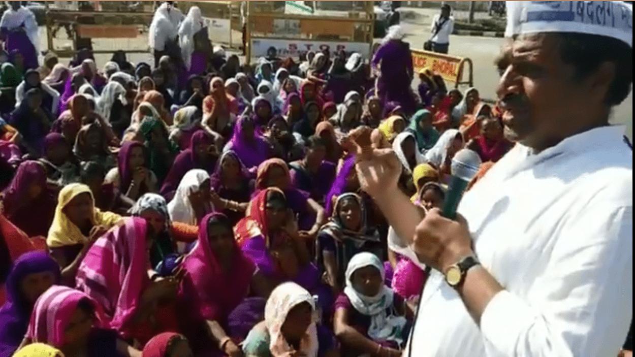 शिवराज सिंह की फर्जी घोषणाओं के कारण परेशान आशा - ऊषा कार्यकर्ता