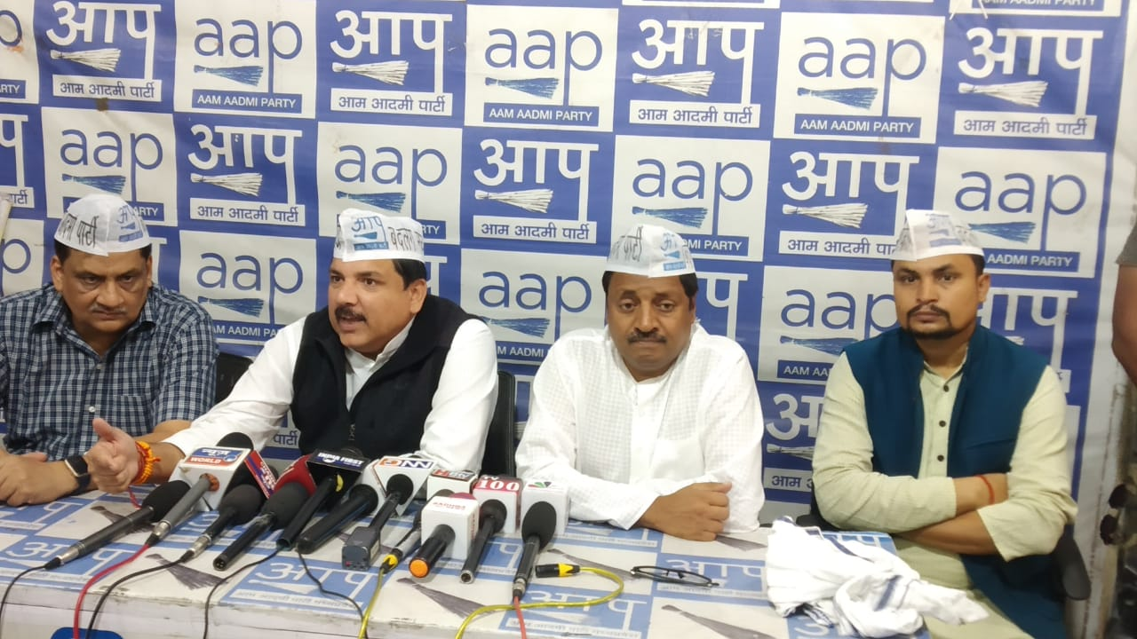 AAP Rajya Sabha MP Sanjay Singh Ji's Important Press Conference At Bhopal